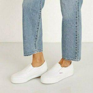 NEW Superga 2306 COTU White Slip-On Sneaker